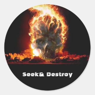 Seek& Destroy Classic Round Sticker
