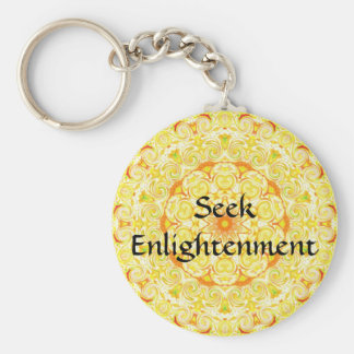 Seek Enlightenment - BUDDHIST SAYING Keychain