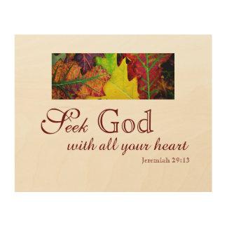 Seek God Wood Wall Decor