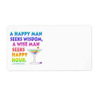 SEEK HAPPY HOUR Avery LABEL Shipping Label