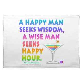 Seek Happy Hour Placemat