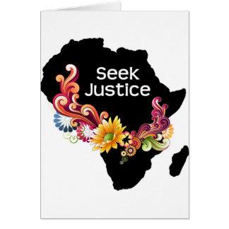 Seek Justice Greeting Card