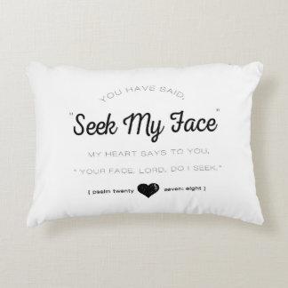 Seek My Face, Psalm Scripture Accent Pillow
