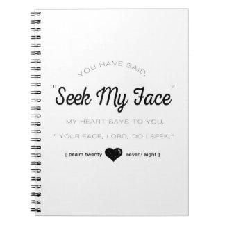 Seek My Face, Psalm Scripture Notebook