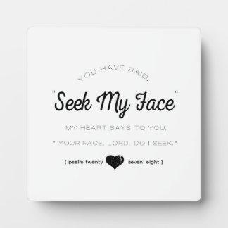 Seek My Face, Psalm Scripture Plaque