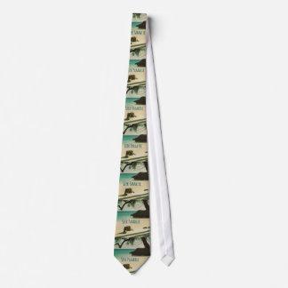 Seek Paradise Beach Theme Neck Tie