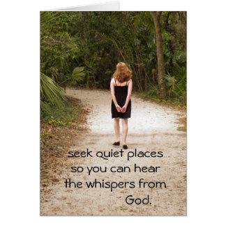 Seek quiet places card