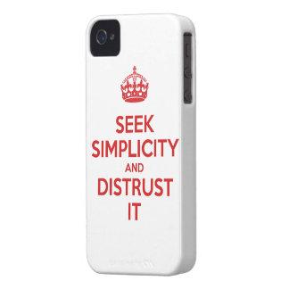 Seek Simplicity and Distrust It iPhone 4 Case-Mate Case