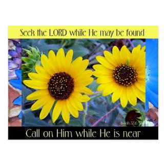 """Seek the Lord"" postcard"