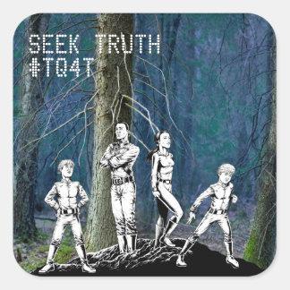 Seek Truth #TQ4T Square Sticker