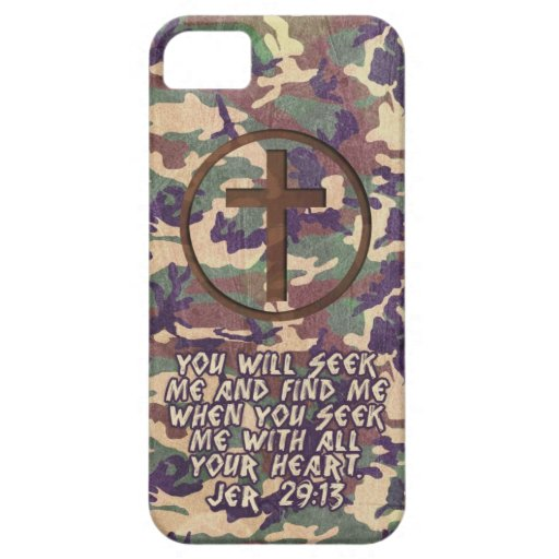 Seek With Your Heart - Jeremiah 29:13 Bible Verse iPhone 5 Cover