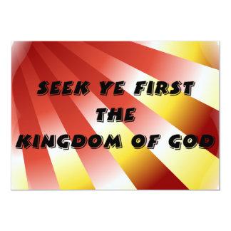 Seek ye first The Kingdom of God Card