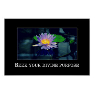 Seek your divine purpose poster