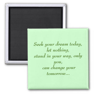 Seek your dream today magnet