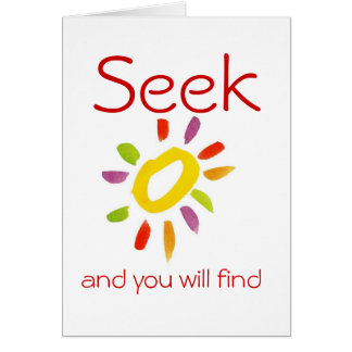 Seeker Quaker Quote Greeting Card