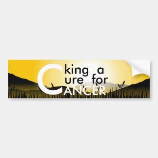 Seeking A Cure For Cancer Bumper Sticker