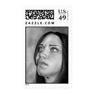 Seeking Guidance Girl Portrait Postage
