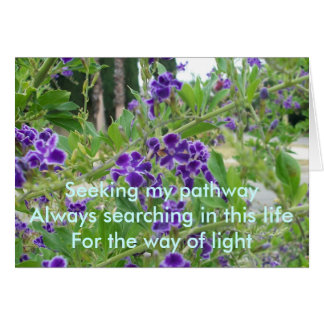 Seeking My Pathway Greeting Card