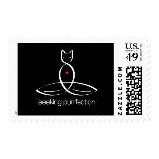 Seeking Purrfection - Regular style text. Postage