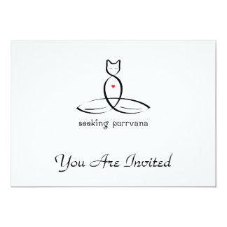 Seeking Purrvana - Fancy style text. Card