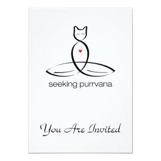 Seeking Purrvana - Regular style text. Card