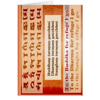 Seeking Refuge in Buddha Greeting Card