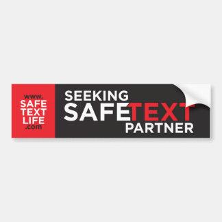 Seeking Safe Text Partner Bumper Sticker
