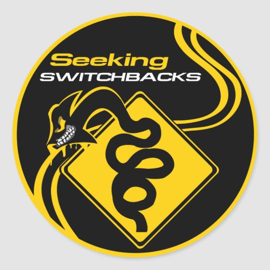 Seeking Switchbacks Sticker