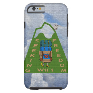 Seeking WiFi Freedom Hiker Design Tough iPhone 6 Case