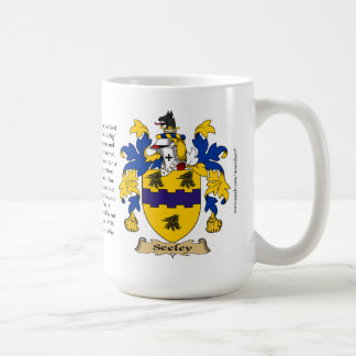 Seeley, the Origin, the Meaning and the Crest Coffee Mug