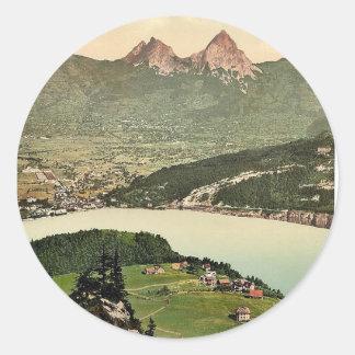Seelisberg and Kanzeli Lake Lucerne Switzerland Round Sticker