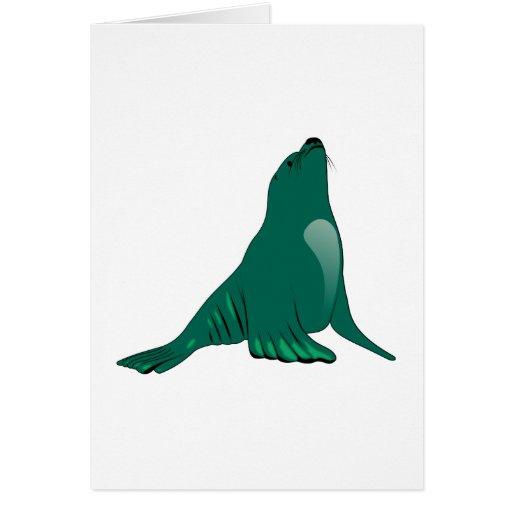 Seelöwe sea lion greeting card