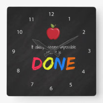 Seems impossible until it is done square wall clock