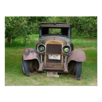 Seen Better Days - Antique Car with BC Plates Print