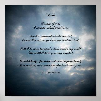"""Seen""Dream of me,I wonder...Poem Poster"