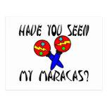Seen My Maracas Postcard
