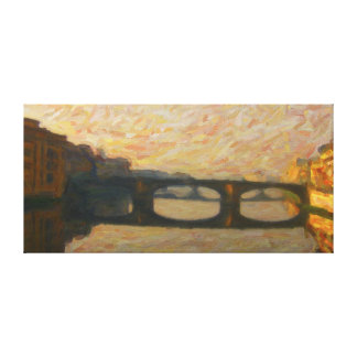 Seen of Rio Arno in Firenze - AR-0032A Canvas Print
