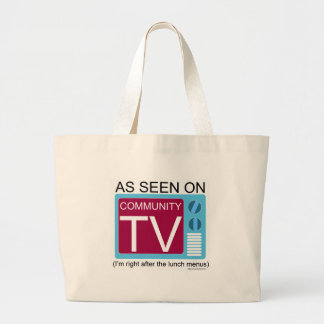 Seen on Community TV Large Tote Bag