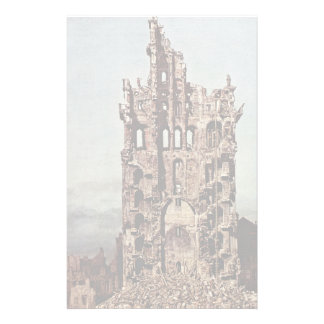 Seen View Of Dresden, The Ruins Of The Holy Cross Stationery