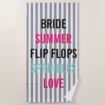 McTiffany Tiffany Aqua Seersucker Summer Bride Sprinkle Party Beach Towel