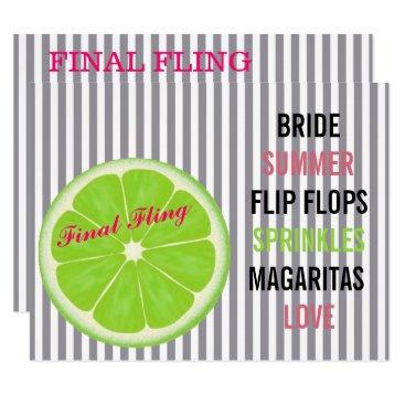 McTiffany Tiffany Aqua Seersucker Summer Bride Sprinkle Party Invitation