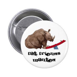 Seesaw Rhino Pinback Button
