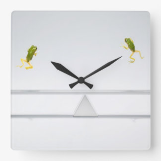 Seesaw Square Wall Clock