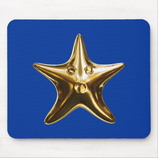 Seestern starfish gold mouse pads