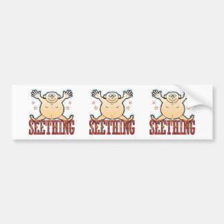 Seething Fat Man Bumper Sticker