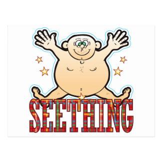 Seething Fat Man Postcard