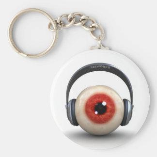 seeworks identity basic round button keychain