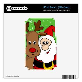 Sefie de Santa y de Rudolph iPod Touch 4G Skins