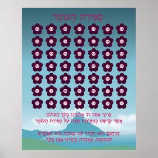 Sefirat Haomer Chart Poster