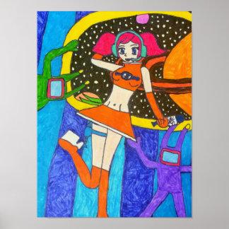 SEGA Space Channel 5 Art Print